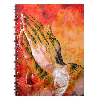 PRAYING HANDS SPIRAL NOTEBOOK