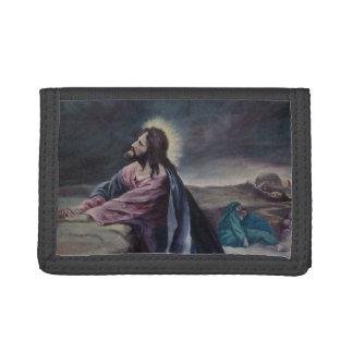Praying in Gethsemane Tri-fold Wallets