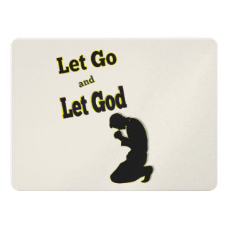 Praying Kneeling Man Let Go Let God Card
