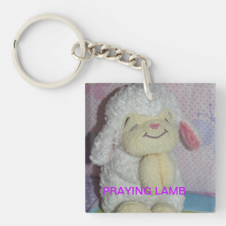 Praying Lamb Keychain