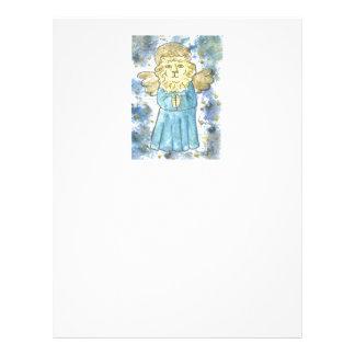 Praying Lion Angel Customized Letterhead