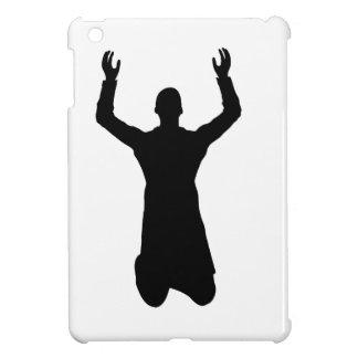 Praying man on the knees iPad mini case