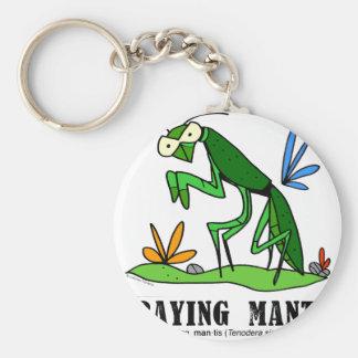 Praying Mantis by Lorenzo Traverso Keychain