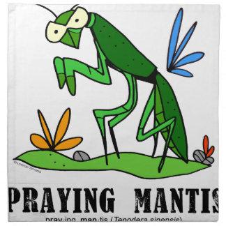 Praying Mantis by Lorenzo Traverso Napkin