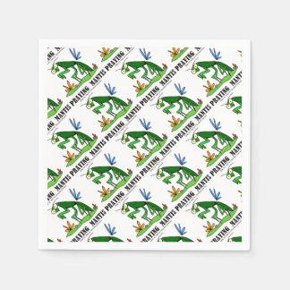 Praying Mantis by Lorenzo Traverso Paper Napkin