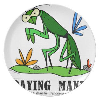 Praying Mantis by Lorenzo Traverso Plate