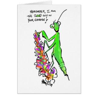 praying mantis eco garden card
