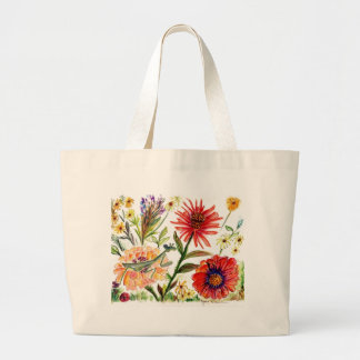 Praying Mantis Flower54 Large Tote Bag