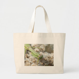praying mantis large tote bag