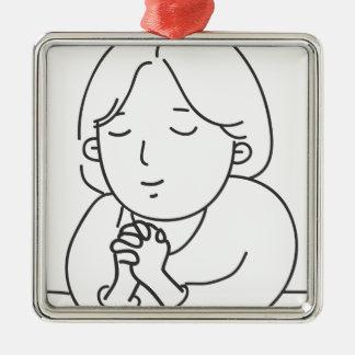 Praying Metal Ornament
