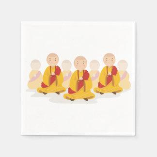 Praying Monks Paper Napkins