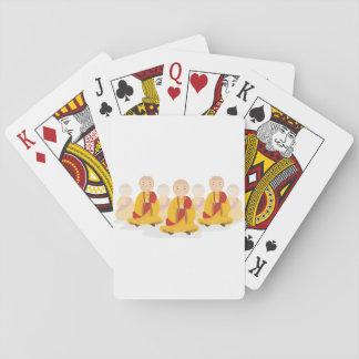 Praying Monks Playing Cards