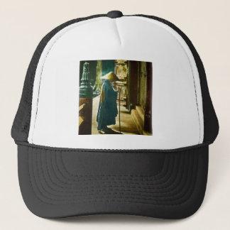 Praying Priest in Old Japan Vintage Magic Lantern Trucker Hat
