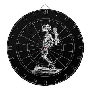 praying  skeleton  dart board
