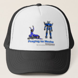 Praying to Mecha Trucker Hat