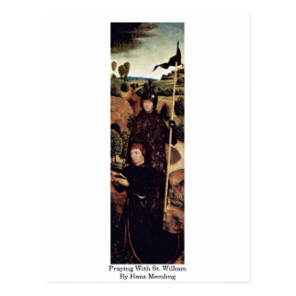 Praying With St. William By Hans Memling Postcard