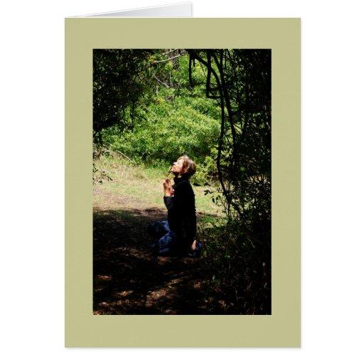 Praying Woman Greeting Cards