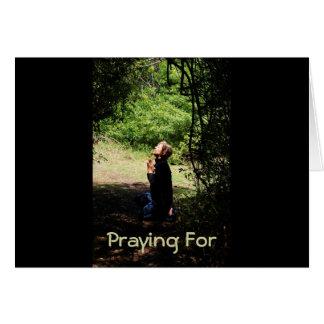 Praying Woman Greeting Card