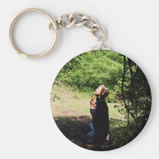 Praying Woman Key Chains