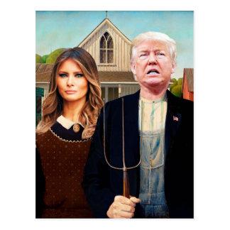 Pre-addressed postcard to Trump American Gothic