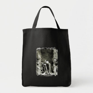 Pre-Columbian Gravesite Skeleton Tote Bag