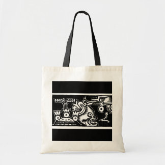 Pre-Hispanic Aztec Style Painting c. 1925 Tote Bag