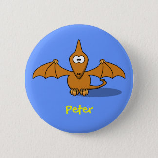 Pre-historc pterodactyl 2 inch round button