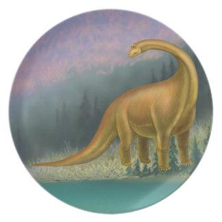 Pre-Historic Brachiosaurus Dinosaur Plate