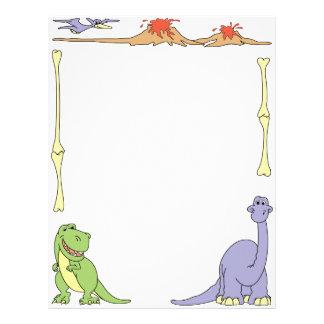 Pre-historic Dinosaurs Letterhead