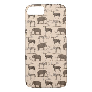 Pre-Historic Mammals Megaceros and Woolly Mammoth iPhone 8/7 Case