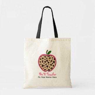Pre K Teacher Leopard Print & Pink Apple
