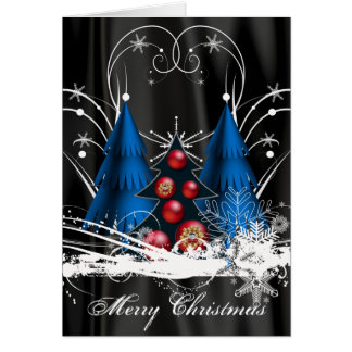 Pre-Printed Christmas Tree Card