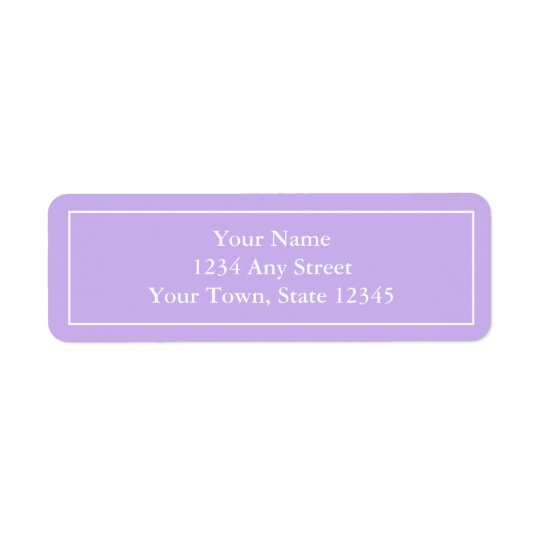 Pre-printed Purple Return Address Label Stickers
