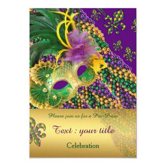 """""""pre prom invitation"""", """"masquerade"""",""""prom party"""" card"""
