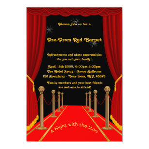 Red Carpet Prom Gifts On Zazzle Ca