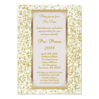 Pre Prom, Pre-Prom,Sweet-sixteen,Glitter on Ivory Card