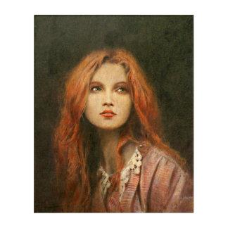 Pre-Raphaelite Girl  Acrylic  Wall Art