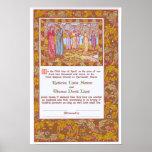 Pre-Raphaelite Wedding Certificate Posters