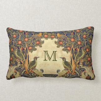 Pre Raphaelite Wm. Morris CUSTOMIZABLE MONOGRAM Lumbar Pillow