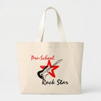 Pre School Rockstar Large Tote Bag