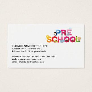pre school word in fun letters business card