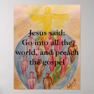 Preach The Gospel Poster