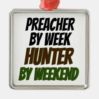 Preacher Hunter Metal Ornament