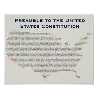 Preamble to the United States Constitution Poster