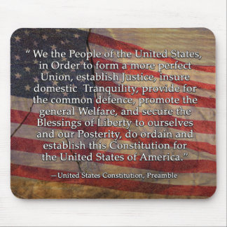 Preamble to the US Constitution Typography Mouse Pad