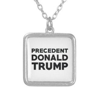 Precedent Donald Trump Silver Plated Necklace