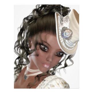 Precious African American Woman Customized Letterhead