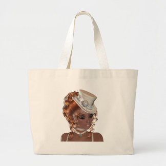 Precious African American Woman Large Tote Bag
