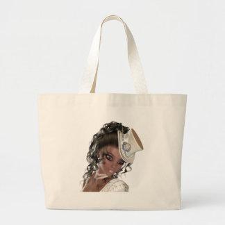 Precious African American Woman Large Tote Bag