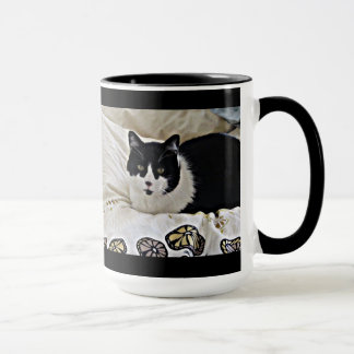 Precious Black and White Milo coffee mug